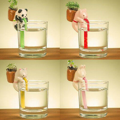 Ceramic Animal Water Absorption Potted Plant Mini Chupon Self Watering Planter L
