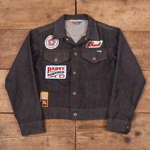 147f69e8cd9 Boys Vintage Sears 70s Indigo Toughskins Denim Jacket USA Made Size ...
