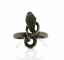Bel anziano serpenti Ring - 925 ARGENTO-Kobra