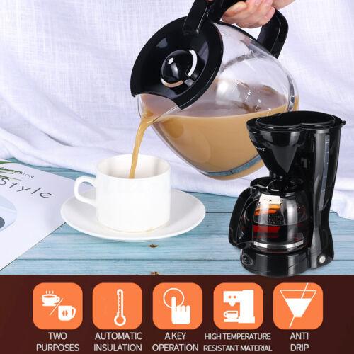 Electric Drip Coffee Tea Espresso Maker Pot Cafe Home Machine filter 12 Cup 220V