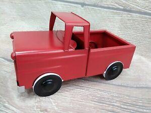 New Red Truck Decor 12 Metal Vintage Farm Truck Decor Farmhouse Valentine S Ebay