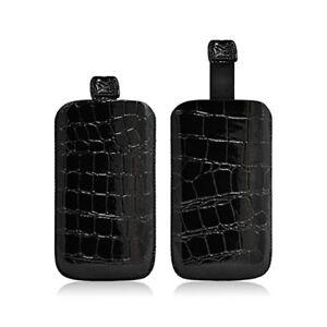 Détails sur Housse Coque Etui Pochette Style Croco Couleur Noir pour Wiko Lubi 2 / Lubi 3