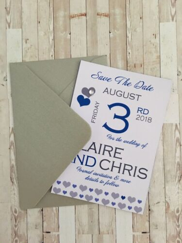 10 Save The Date Fridge Magnets complete with Envelopes