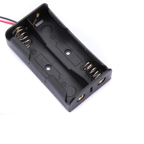 Plastic Case Storage Box Halter with Wire Leads 1xAA 2xAA 3xAA 4xAA AIP