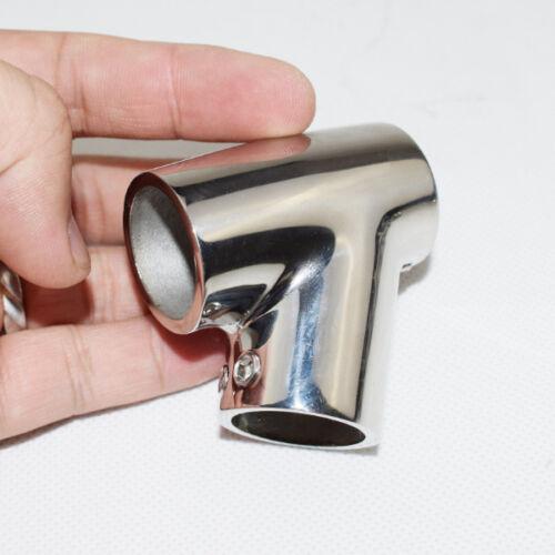 """Stainless Steel Boat Hand Rail 60 Degree Tee Hardwares Fitting 7//8/"""" Tube Novel"""