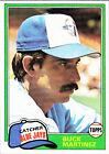 1981 Topps Buck Martinez #799 Baseball Card