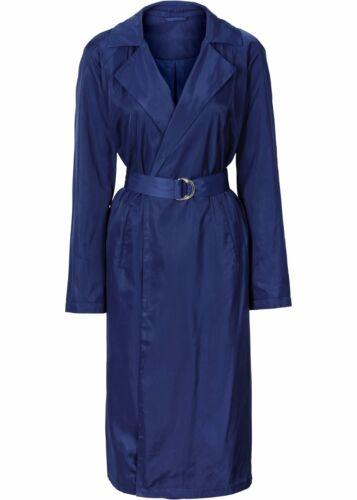 Damen Schicker Mantel  mit Gürtel in tiefseeblau NEU
