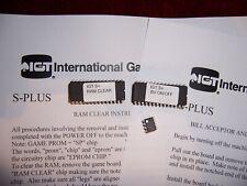 IGT S+ S-Plus Slot machine RAM & BV Bill Validator clear set chips & EEPROM