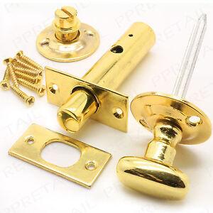 PREMIUM BRASS BATHROOM DOOR LOCK+SCREWS Privacy Toilet ...