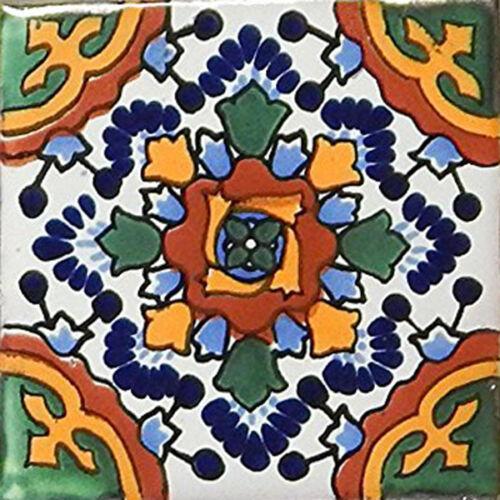 "6 Mexican Talavera TILES Ceramic 6x6/"" Stairs Backsplash C177"