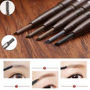 Wasserdicht-Lang-anhaltende-Eyeliner-Eye-Brow-Bleistift-mit-Buersten-Makeup