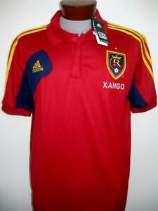 New Adidas Mens MLS Soccer Real Salt Lake Polo Shirt Jersey Sz XL  910d2a19a