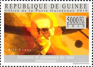Guinea postfrisch MNH Bill Evans Usa Musiker Jazz Musik Pianist Komponist