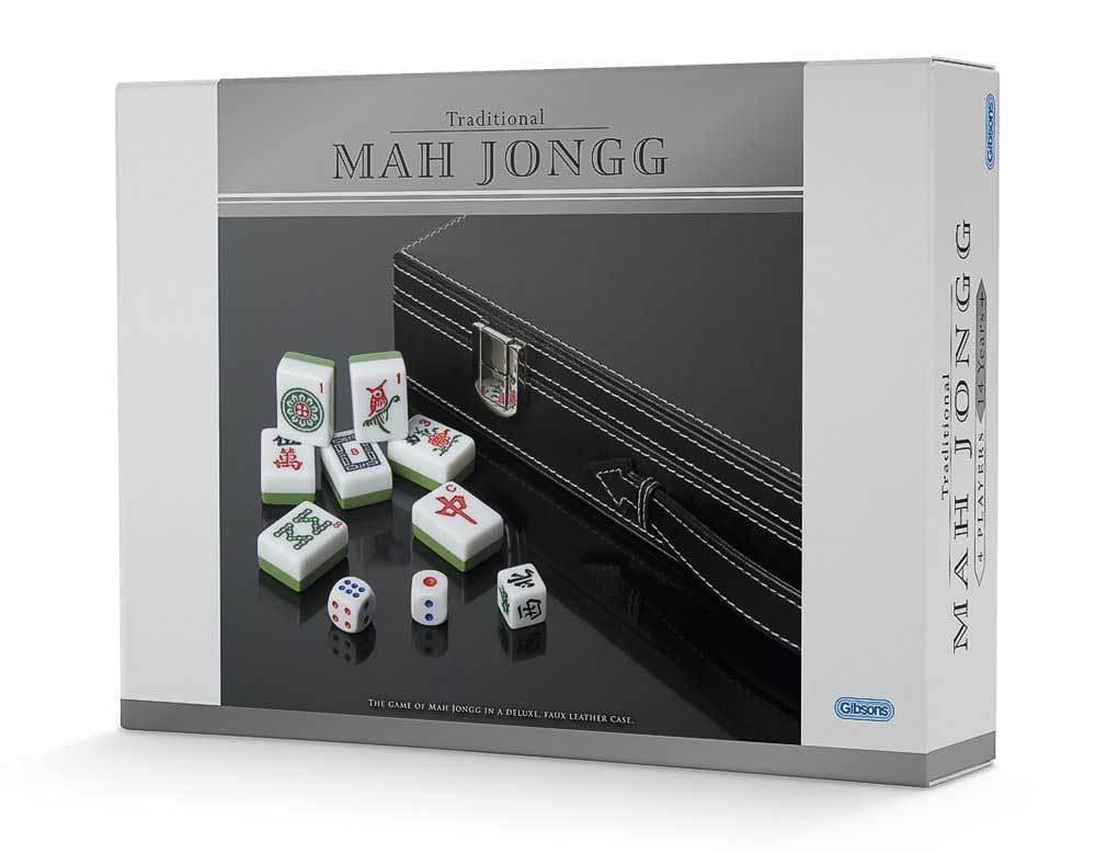 Tradicional Deluxe Mah Jongg Set-Nuevo En Imitación De Cuero Funda