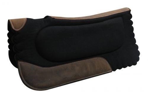 SHOWMAN 32 x31  feutre noir de selle avec festonné bords & Wear Leathers    NEUF