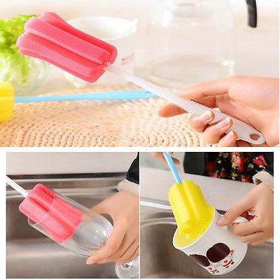 1 X Bottle Glass Cup Cleaner Kitchen Cleaning Tools Washing Brush Random Colors