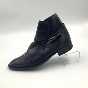 BALLY-bottes-noir-homme-parawet-Bergame-Cuir-Veau-cheville-taille-9-made-in-Italy