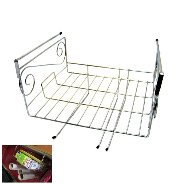 Stainless Sink In Space Save Holder Rack For Paper Towel Kitchen Shelf Dish Rack