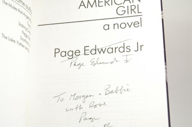 Signed First Edition Edwards, Page - American Girl Marion Boyars Hardcover
