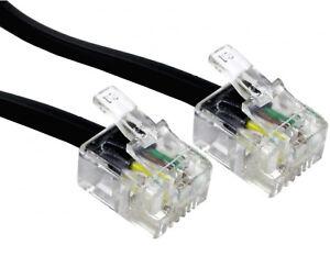 3m Rj11 Vers Rj11 Câble Plomb 4 Broches Adsl Modem Routeur Adsl Téléphone 6p4c Noir-afficher Le Titre D'origine Isrvdym5-07172050-847616183