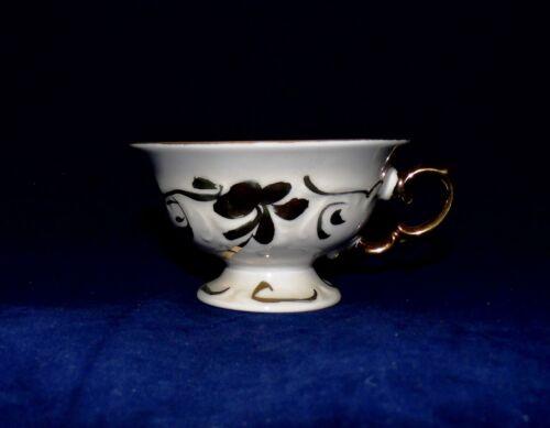 Wawel Pologne apparat Porcelaine Tasse à Café Blanc avec approfondi goldverzierung