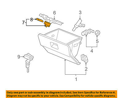 Honda Genuine 34254-SW5-003 Glove Box Lamp Assembly