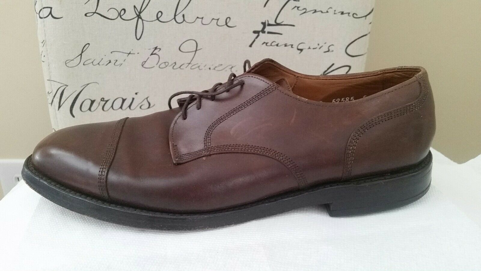 Allen Edmonds Uomo Dress Shoes Size 10.5D Brown Pelle Oxfords Great Condition