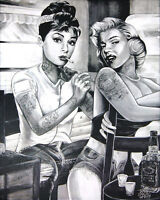 Vintage Tattoo Sophia Loren Marilyn Monroe 14 X 11 Photo Print