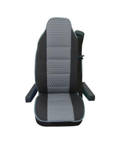 Universal Cuero PU Gris /& Premium Tela De Lujo Cubierta de asiento para Camión Camión