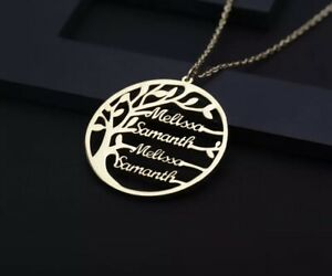 Statement-Family-Customized-Name-Tree-Name-Necklace-Gold-Color