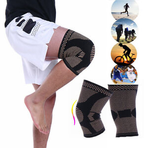 CFR-Copper-Knee-Support-Compression-Brace-Arthritis-Joint-Pain-Relief-Sleeve-OBS