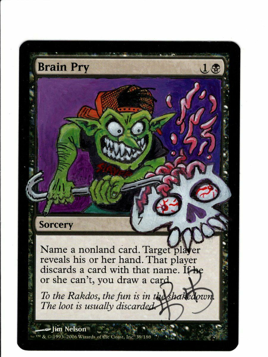 MTG Brain Pry Altered x1 LP Dissension Magic the Gathering