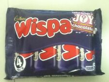 PACK OF 4 CADBURY WISPA BARS - BRITISH CHOCOLATE - WILL SHIP WORLDWIDE