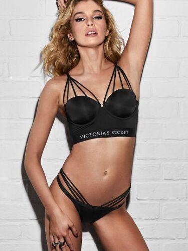 New Victoria's Secret Fashion Show 2017 Balmain Strappy Long Line Black Bra ~36D