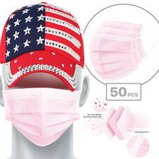 50100 Pcs Face Mask Disposable Non Medical Surgical 3 Ply Earloop Mouth Cover