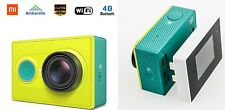 Original Xiaomi YI Action Camera Green with viewfinder/ lcd attachment screen