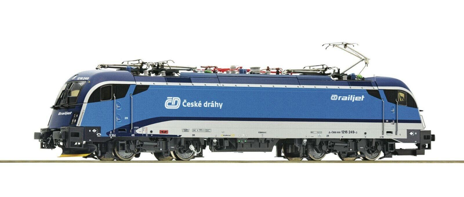 Roco HO Scale eléctrica Locomotora 1216 Railjet-Cd OBB