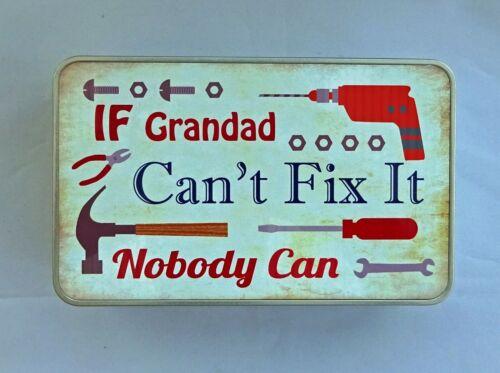 Si no puedes arreglarlo Tratar Tin Grandad-Ideal Regalo De Navidad-mostrar a alguien que te importa