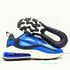 Nike Air Max 270 React Men S Blue White Running Training Shoes Gym