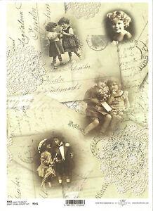 Vintage Letter Parrot Flourish ITD R527 Rice Paper for Decoupage Scrapbooking