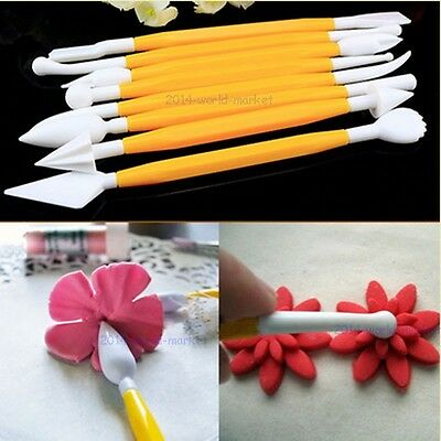 8PCS CAKE DECORATING KITCHEN BAKING TOOLS FLOWER MODELLING SUGARCRAFT CUPCAKE #T