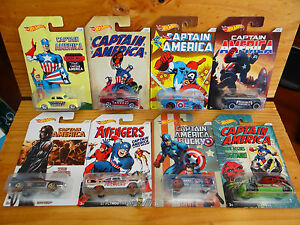 Hot-Wheels-2016-Captain-America-Series-full-set-of-8-A-A