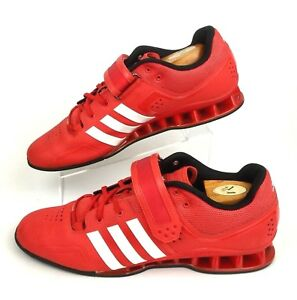 Details about ADIDAS Adipower Weightlifting Athletic Shoes | Red + White | Men's US Size 15