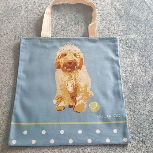 COCKAPOO DOG TOTE BAG SHOPPER BY BETTY BOYNS BEAUTIFUL QUALITY BAG CREAM COCKAPO
