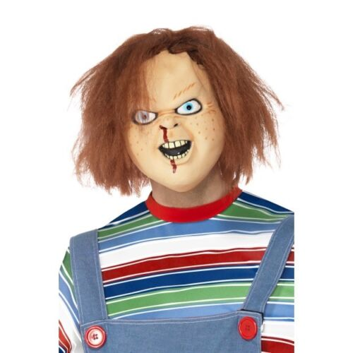Men/'s Chucky Childs Play Doll Halloween Horror Fancy Dress Costumes Or Mask Stag