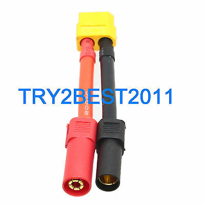 5pcs 5.5MM Bullet to AMASS Female XT60 Adapter Connector for Turnigy Zippy