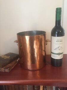 Rare-Vintage-L-M-S-Hotels-Copper-Ice-Bucket-Pot-Pan-Sauce-Railway-Champagne