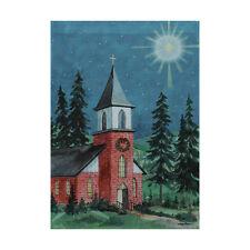 "Rain or Shine  /""Country Church/""   Large Porch Flag  New"