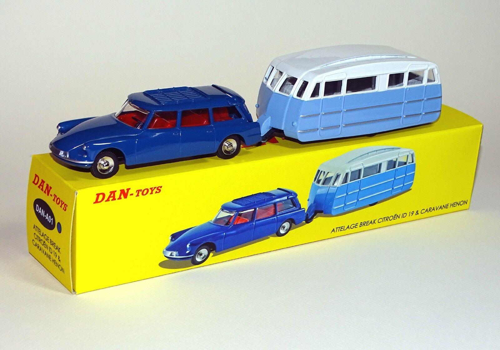 DAN TOYS Citroën ID 19 Blu Scuro e Caravan Hénon blu / Bianco DAN-A01