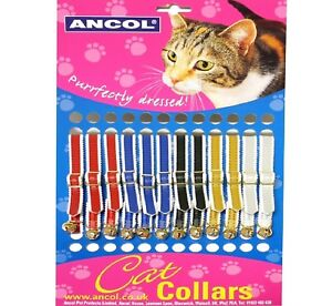 CAT-COLLARS-with-Bell-Ancol-Standard-Assorted-Soft-Pet-Collers-bp-Kitten
